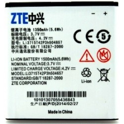 Battery ZTE Li3715T42P3h504657 Li-Ion 3.7V 1500mAh Original