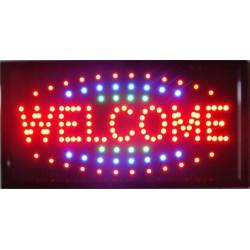 """Φωτιζόμενη πινακίδα με κίνηση """"Welcome"""""""