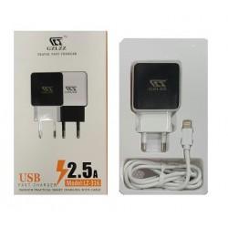 OEM Αντάπτορας Ταχείας Φόρτισης Ταξιδίου 2.5A και Καλώδιο iPhone 5 Model:LZ-316 Blister
