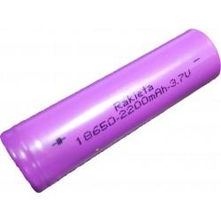 RAKIETA Επαναφορτιζόμενη Μπαταρία 18650 2200mAh 4.2V Li-ion