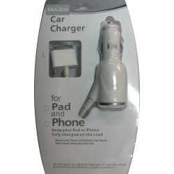Φορτιστής Αυτοκινήτου EKA-Q13 Για IPhone 4/4s