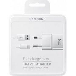 Φορτιστής Ταξιδίου Samsung EP-TA20EWE με Αποσπώμενο Καλώδιο USB Type-C 2000 mAh Fast Charge (15W) Original