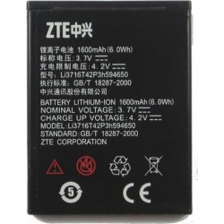 Battery ZTE Li3716T42P3h594650 Li-Ion 3.7V 1650 mAh Original