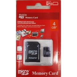 Digitec Κάρτα μνήμης Micro SD 4GB Class 10 Με Ανταπτορα Blister