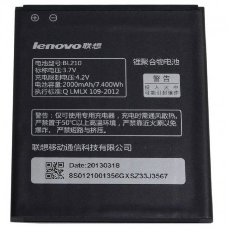 Battery Lenovo BL210 for S820/S820E/A750E/A770E/A656/A766/A658T/S650/A526/A536 blister