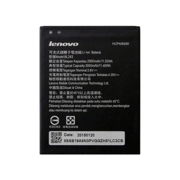 Battery Lenovo BL243 Li-Ion 3.7V 3000mAh Original Bulk
