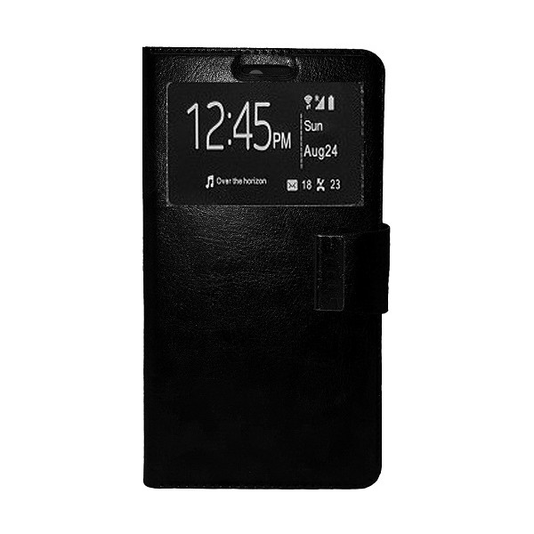 Book Case Stand Window For Samsung G900 Galaxy S5 HQ