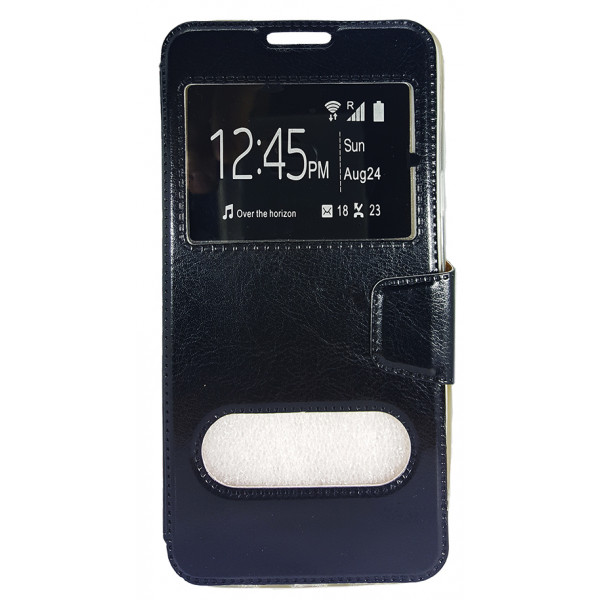 Book Case Stand Double Window For Samsung I9500 Galaxy S4