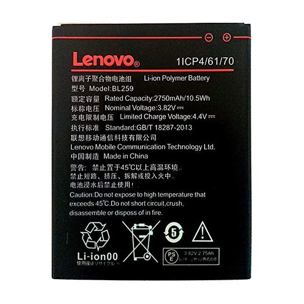 Battery Lenovo BL259 Li-Ion 3.7V 2750mAh Original Bulk