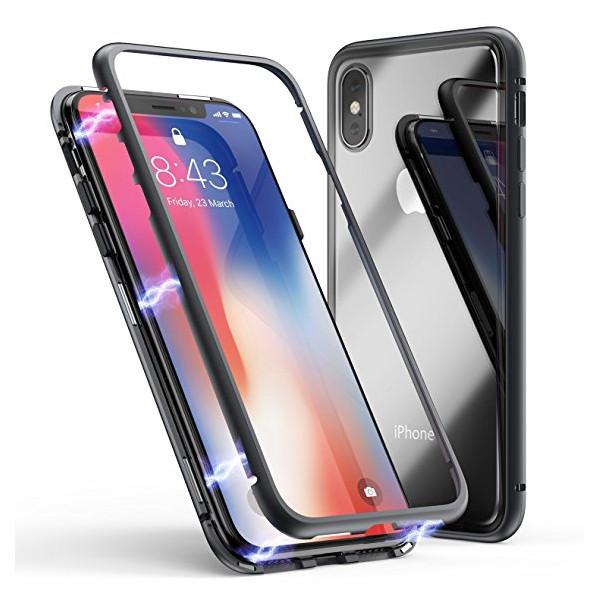Μαγνητικη Μεταλλικη Θηκη Με Διαφανη Πισω Οψη για Iphone X/Xs