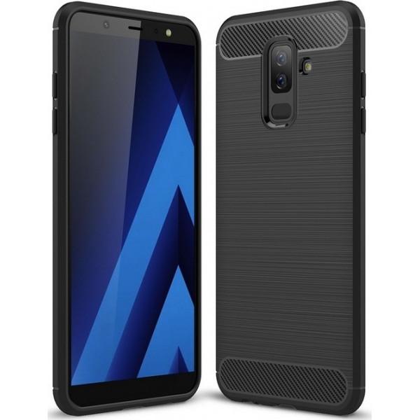 S-Case Carbon Fiber For Samsung Galaxy A605 A6 PLUS 2018 Black