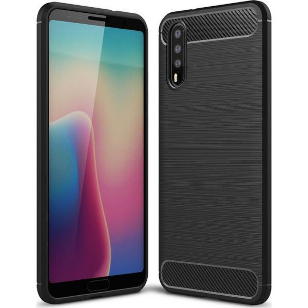 S-Case Carbon Fiber 0,3MM Για Huawei P20 Black