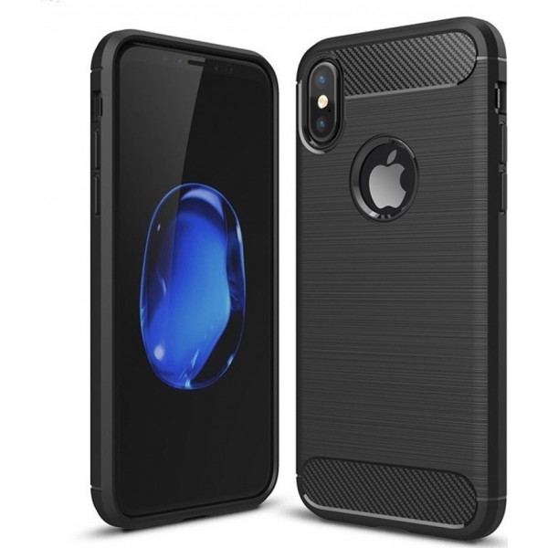 S-Case Carbon Fiber 0,3MM Για Iphone X Black