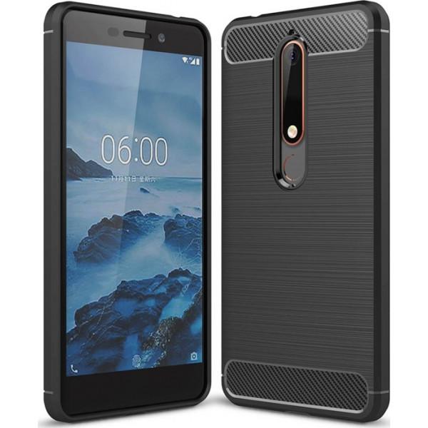 S-Case Carbon Fiber Για Nokia 6 2018 Black