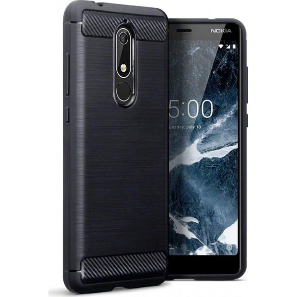 S-Case Carbon Fiber Για Nokia 5.1 Plus/X5 2018