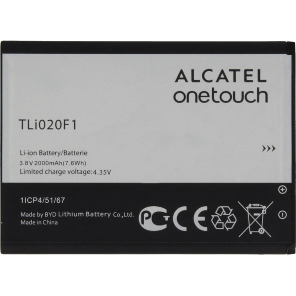 Μπαταρία Alcatel TLi020F1 Li-Ion 3.7V 2000mAh Original