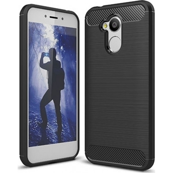 S-Case Carbon Fiber Για Huawei Honor 6A Black