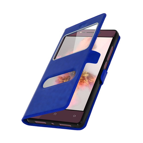 Slim Flip Cover Double Window Case for Samsung N7100 Galaxy Note II Blister