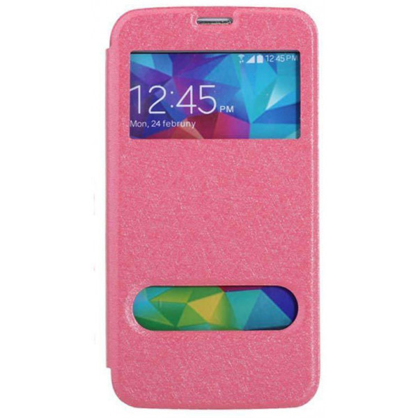 Flip Cover Stand Double Window για Sony ST26I Xperia J Blister