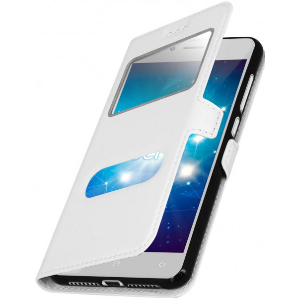 Flip Cover Stand Double Window για Samsung S7560/S7562/S7580/S7582 Galaxy S Duos Blister