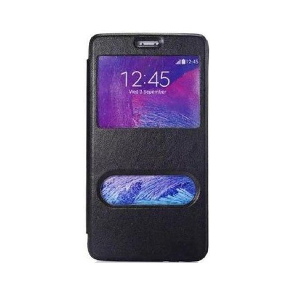 Slim Flip Cover Double Window Για Samsung Galaxy S7560/S7562