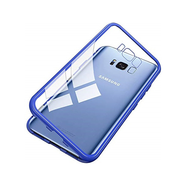 Μαγνητικη Μεταλλικη Θηκη Με Διαφανη Πισω Οψη για Iphone S8