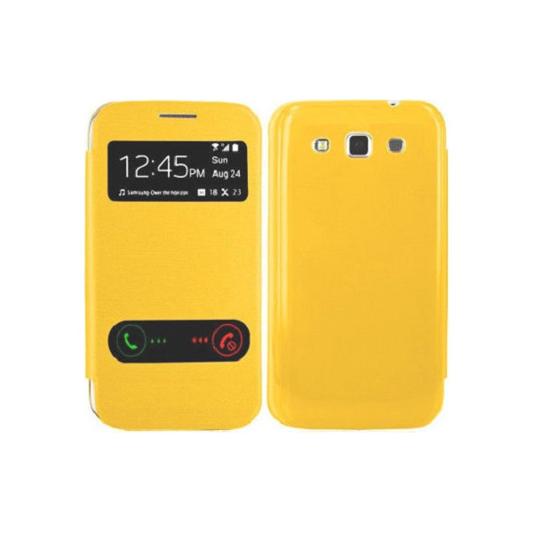 Slim Flip Cover Double Window For samsung i9080/i9082 Galaxy Grand Blister