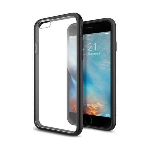 Θήκη Σιλικόνης TPU Με Διάφανη Σκληρή Πλάτη Για Iphone 5G/5S
