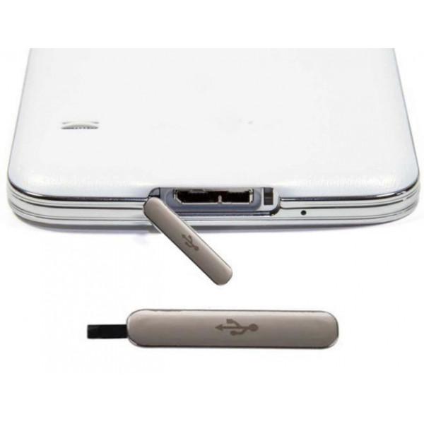 Κάλυμμα Θύρας Φόρτισης Samsung Galaxy S5 G900F (SILVER)