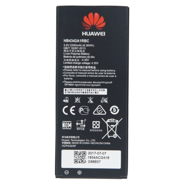 Battery Huawei HB4342A1RBC Για Huawei Y6, Honor 4A, Y5 2 2200mAh Li-Ion Bulk