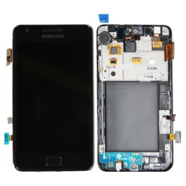 Οθόνη LCD με Frame (πλαίσιο οθόνης) για Samsung Galaxy GT-I9100 Galaxy S2 AAA