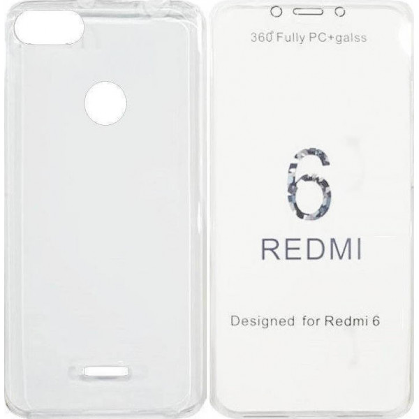 360 Full Body Θήκη + Τζαμακι For Xiaomi Redmi 6