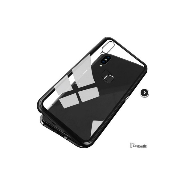 half off d8e43 62f57 Μagnetic Metal Case with Transparent Detachable Metal Frame Back made of  tempered glass for Xiaomi Redmi Note 5 Pro - Mobile City