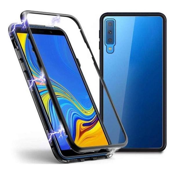 Μαγνητική Μεταλλική Θήκη Detachable Metal Frame με Πίσω Όψη από Tempered Glass για A7 2018