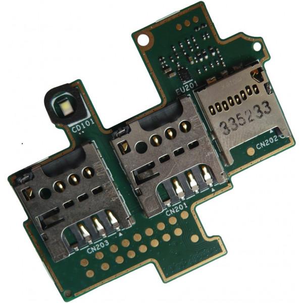 Καλωδιοταινία με διπλή επαφή κάρτας Sim για το Sony C1905 DUAL SIM FLEX