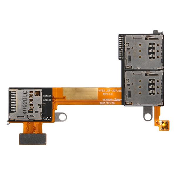 Καλωδιοταινία SIM Και Micro SD Sony M2 Aqua Dual
