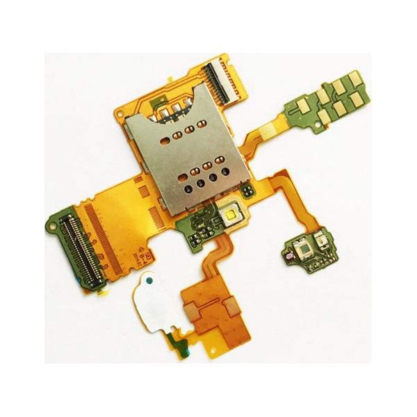 Καλωδιοταινία Αναγνώστης SIM/Sim reader Flex για Sony Xperia RAY ST18