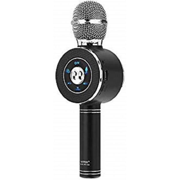 Ασύρματο Bluetooth Mικρόφωνο KARAOKE Hχείο Mp3 Player WSTER - Disco Light Microphone WS-668 Black