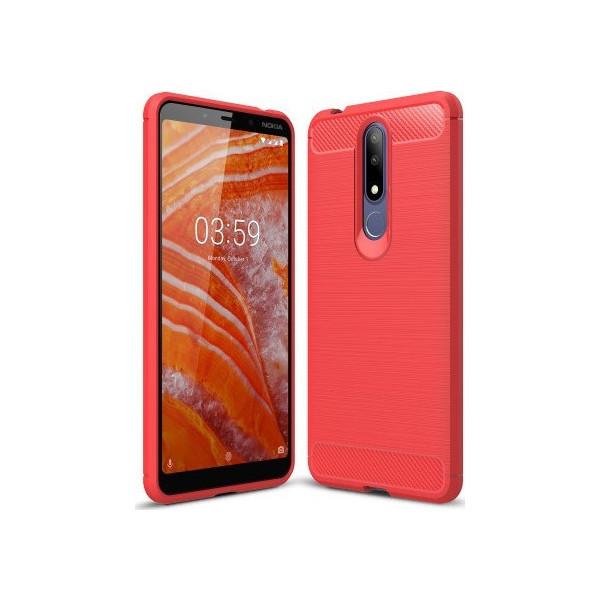 S-Case Carbon Fiber Για Nokia 3.1 Plus