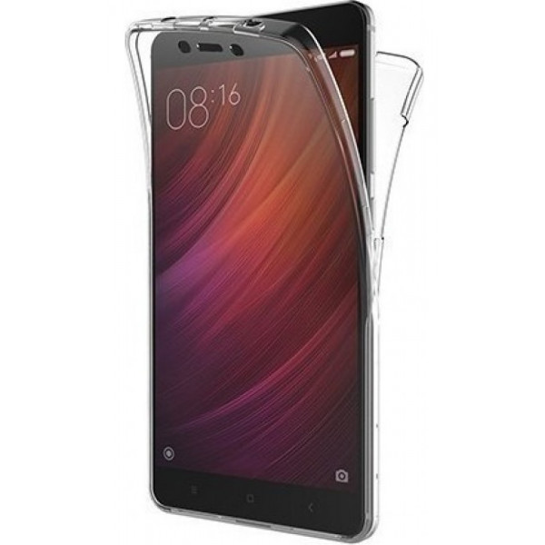 Front & Back Cover Σιλικόνης Διάφανο Για Xiaomi Redmi Note 4/4x