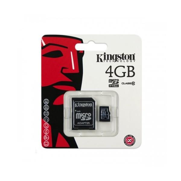 Kingston MicroSDHC 16GB Class 10 with Adapter (SDC10/4GB)