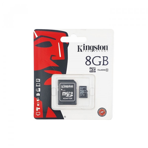 Kingston MicroSDHC 8GB Class 10 with Adapter (SDC10/8GB)