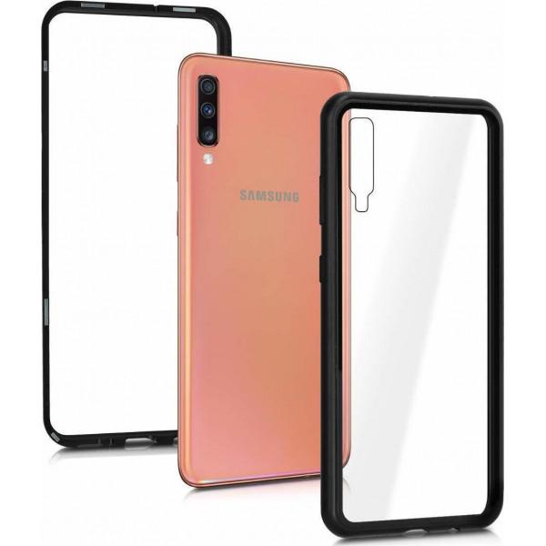 Μαγνητική Μεταλλική Θήκη Detachable Metal Frame με Πίσω Όψη από Tempered Glass για Samsung Galaxy A50