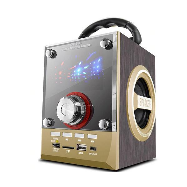 Speaker CV-18 Wood Luxury Mobile Multimedia Wireless Bluetooth